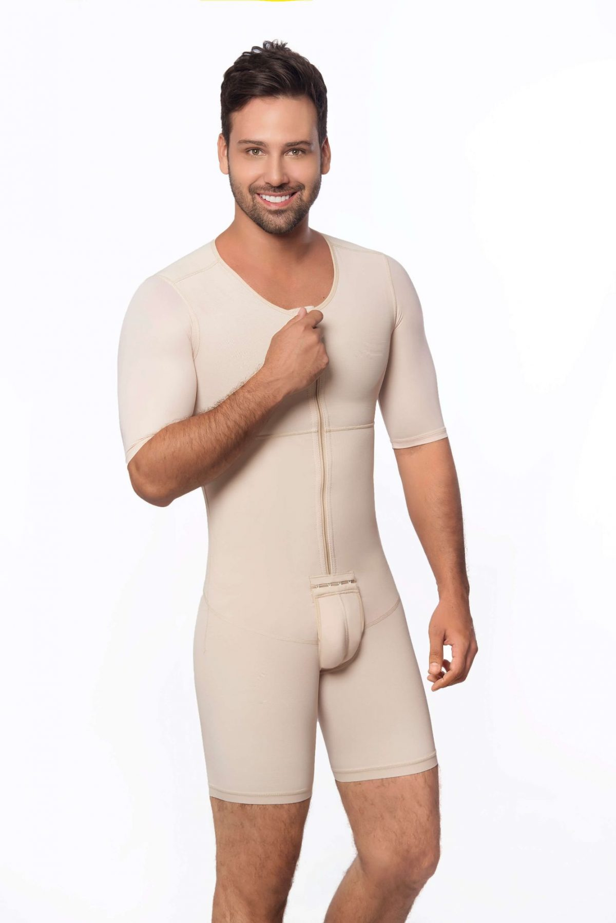 bd8b35817b Male full body mid thigh faja with sleeves - Contour Fajas