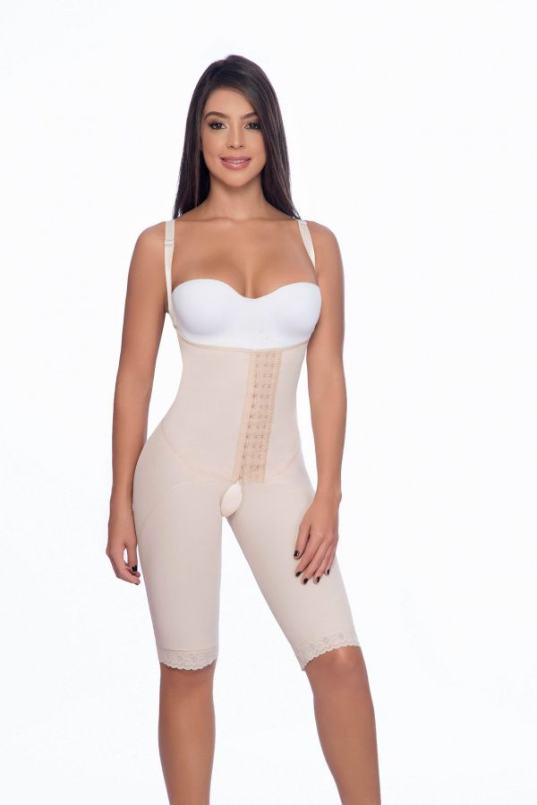 9e4657005 Above the knee faja with suspender straps and hook closure