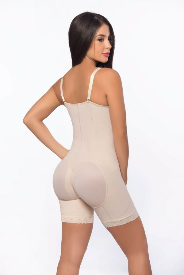 add3494cc Mid thigh faja with suspender straps and hook closure